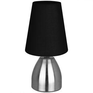 Tischlampe Touch dimmbar schwarz 23cm Nachttischlampe Tischleuchte Schreibtischleuchte