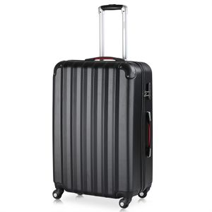 Monzana® Hartschalen Koffer Trolley 4 Rollen Reisekoffer Gepäck Schloss Schwarz XL