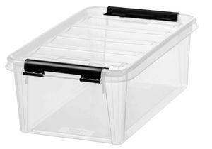 SmartStore Aufbewahrungsbox CLASSIC 5 3,6 Liter transparent / schwarz