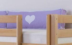 Relita Seitenkissen purple/weiß/herz 2038 für Relita Betten, TX5102038