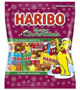 Haribo Merry Christmas Minis Fruchtgummi Figuren Weihnachtsmotiv 250g