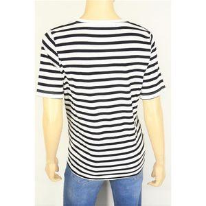Via Appia modisches Damen Ringel T-Shirt in Offwhite/Schwarz, Baumwolle/Modal