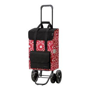 Andersen Shopper Quattro mit 4 Rädern und 48 Liter Tasche Alba rot mit Kühlfach