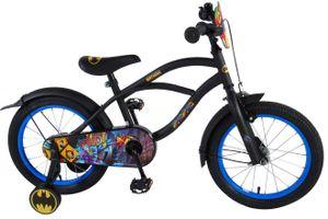 Volare Kinderfahrräder Jungen Batman 16 Zoll 25,4 cm Jungen Rücktrittbremse Schwarz