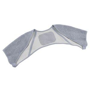 Bambuskohlefaser Schulterwärmer Nackenwärmer Wärmetherapie Schulterbandage XL Grau 自 发热 款 XL