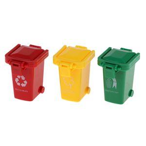3 Kleine Mülltonnen Zubehör Set Kinderspielzeug