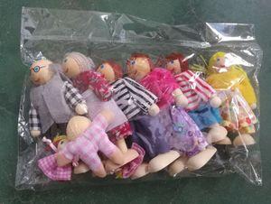 7 Personen Familienpuppen Biegepuppen Minipuppen für Puppenstube Babygelenk Deko Zubehör/Minipuppe