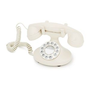 GPO Retro Pearl, Analoges Telefon, Kabelgebundenes Mobilteil, Cremefarben