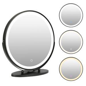 WYCTIN Kosmetikspiegel Schminkspiegel Mit LED Beleuchtung MakeUp Drehbar 50*50cm Einstellbar Helligkeit