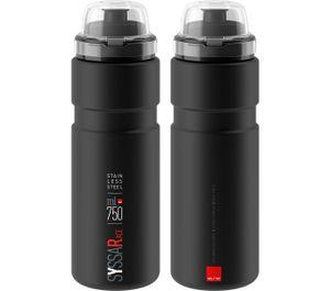 Elite Syssa Race Trinkflasche aus Edelstahl 750 ml Schwarz matt