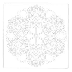 Mandala Schablone Mandala Form Handgefertigtes PET 30*30cm W?nde Pr?gung