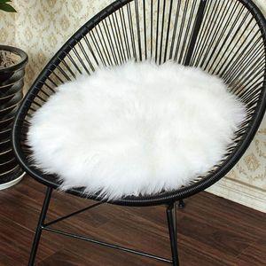 Faux Lammfell Schaffell Teppich, Lammfellimitat Teppich Longhair Fell Optik Nachahmung Wolle Bettvorleger Sofa Matte (Weiße, 30 X 30 cm)