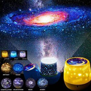 Rotierender LED-Lichtprojektor Stern Mond Himmel Kinderzimmer Nachbildung Nachtlampe Nachtlicht