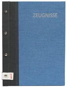 ROTH Zeugnismappe Bicolor mit Buchschrauben dunkelblau/blau