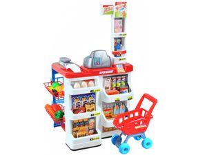 Supermarkt Kinder  Laden Zubehör Einkaufswagen Licht Sound Scanner Spielzeug Kasse 6747