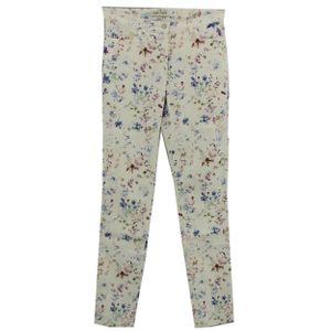 23592 Gerry Weber, Feminine Fit,  Damen Jeans Hose, Stretchdenim, weiß floral, 40 / 32L