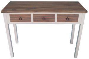 Konsole Anrichte Sekretär weiß Holz braun Landhaus shabby Tisch massiv