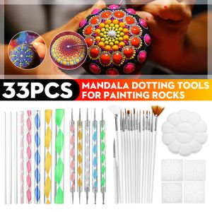 33 Stücke Dotting Tools Set, Mandala Rock Punktierung Werkzeuge Mandala Werkzeug Dotting Tools für DIY Malerei Polymer Clay Keramik