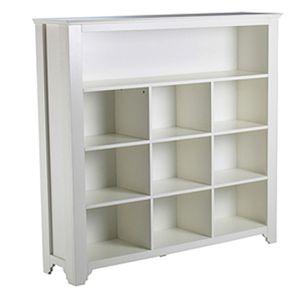 Bücherregal PRETTY Holz weiß 10 Fächer