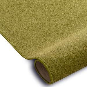 Einfarbiger Teppich Eton für Zimmer, Wohnzimmer, Schlafzimmer, Teppichboden Auslegware, Verschiedene Größen 150x200 cm grün