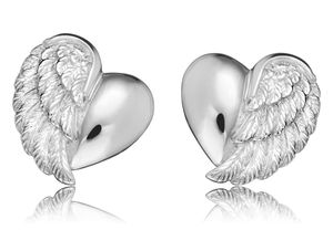 Herzengel HEE-HEARTWING Mädchen-Ohrstecker Herz-Flügel