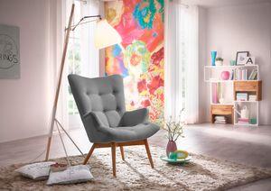 Max Winzer Aiko Hochlehnsessel - Farbe: grau - Maße: 74 cm x 81 cm x 98 cm; 25071-1100-1645216-F01