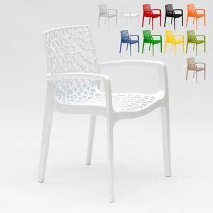 Sessel Stühle Gartenstühle Terrasse Grand Soleil Gruvyer ArmFarbe: Weiß, Einheit: 1 Stück, Höhe (cm): 81, Breite (cm): 58, Gewicht: 3,5 kg, Zusammensetzung: Polypropylen, Modelle: GRUVYER, Eigenschaften: Stapelbar, Länge (cm): 53, Zertifikation: Contract