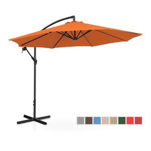 Uniprodo Ampelschirm - orange - rund - Ø 300 cm - neigbar