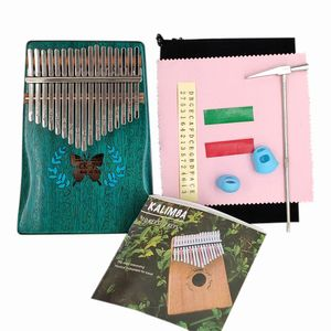 Kalimba Mbira Daumen Finger Klavier tragbar 17 Tasten Massivholz Musikinstrument Geschenk für Musikliebhaber Anfänger