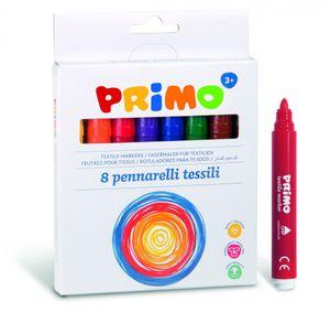 Primo textilstifte junior 4,1 mm 8 Farben