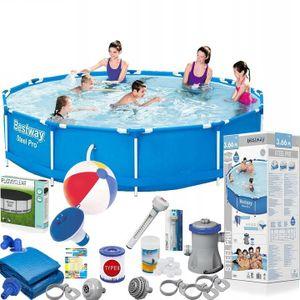 Bestway 56681 Steel Pro MAX Frame Pool 366x76 Schwimmbecken Gartenpool Pumpe Set