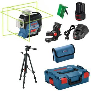 Bosch Linienlaser GLL 3-80 CG L-Boxx 2,0 Ah Li Ion Akku + Baustativ BT 150