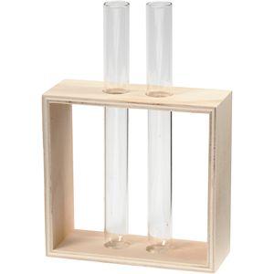 Reagenzglashalter, H: 10+15 cm, Tiefe 4 cm, B: 10,5 cm, 1 Stck.