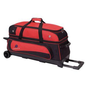 Bowling 3 Ball Tasche Ebonite Transport III Roller Rot
