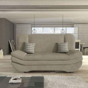 Mirjan24 Schlafsofa Weronika by Toptextil, Sofa mit Schlaffunktion und Bettkasten (Bizon 2111 + Bizon 2111 + Senegal 823)