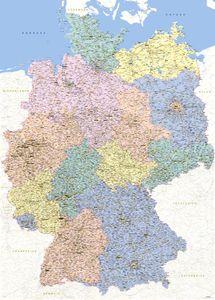 Landkarten Giant XXL Poster - Deutschlandkarte 1:640.000 - Größe 100x140