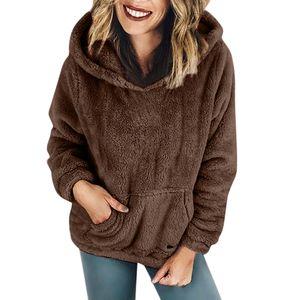 Frauen Kapuzenpullover Mantel Winter Warme Wolltaschen Baumwollmantel Outwear SFW81008315 Größe:XL,Farbe:Taupe