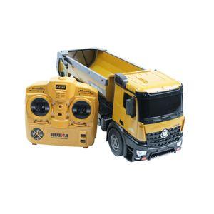 Efaso Huina 1573 RC LKW Kipplaster, 10 Kanal Kipplader Muldenkipper, Truck, 2,4GHz, Baustellenfahrzeug, detailgetreue Nachbildung, Allradantrieb