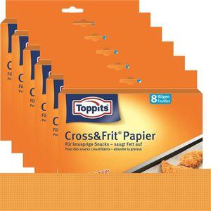 Toppits® Cross & Frit Papier Back-Spezialpapier Snackpapier 8 Bögen ( 6er Pack