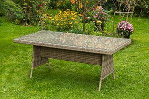 Merxx Tisch Riviera - Farbe: naturgrau - Maße: 180 cm x 90 cm x 75 cm; 28352-228