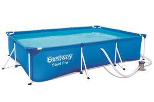 BESTWAY Steel Pro Frame-Pool-Set mit Gestell, blau, TriTech/Stahl, 300x201x66cm, mit Filterpumpe