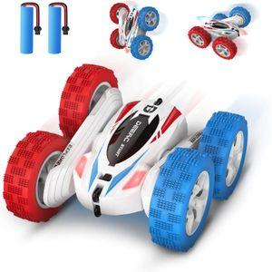 DEERC DE35 RC Ferngesteuertes Auto mit 2 Akkus für Kinder 2.4 Ghz Fernbedienung High Speed 360°Flip
