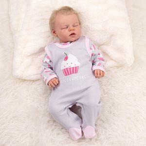 Baby Sweets Mädchen Set Strampler und Shirt grau rosa Little Cupcake Newborn (56)