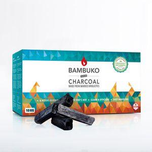 BAMBUKO Premium Grillkohle 10 kg  aus Bambus-Briketts bis 1000° möglich