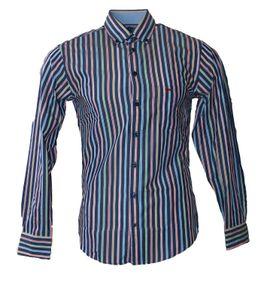FYNCH-HATTON Casual-Hemd cooles Herren Sommer-Hemd mit Button Down Kragen Bunt, Größe:S
