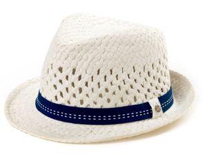 Kinder Trilby Hut versch. Farben, Farbe:Weiss, Size:55cm