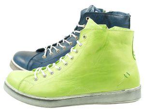 Andrea Conti 0341500 Schuhe Damen Halbschuhe Sneaker High Top, Größe:39 EU, Farbe:Blau