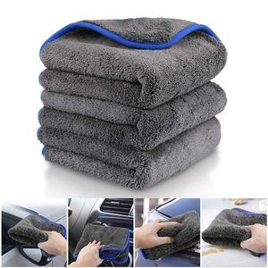 Auto-Reinigungstuch, 3 Stück, Mikrofasertuch, Poliertuch, zum Waschen / Reinigen / Polieren und Trocknen von Fahrzeugen (grau)