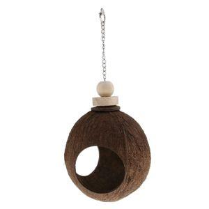 Kokosschaukel Vogelnest Schaukel Hängendes Spielzeug für Wellensittiche Nymphensittiche Papageien Vögel und mehr