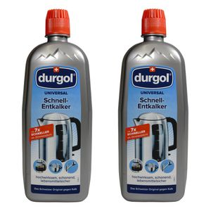 Durgol Universal Schnell-Entkalker für Geräte, Armaturen, Oberflächen, 2er Set, 2 x 750 ml